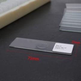 100PCS/Set Biological Glass Sample Prepared Basic Animal Plants Insects Tissues Science Specimen Cover Slips Portable Educational Microscope Slides