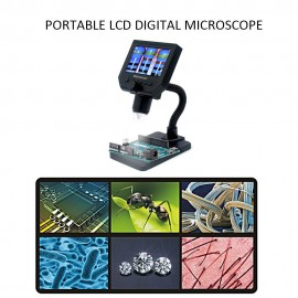 G600 Portable LCD Digital Microscope with High Brightness 8 LEDs and Built-in Lithium Battery