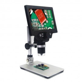 G1200 Digital Microscope 7 Inch Large Color Screen Large Base LCD Display 12MP 1-1200X Continuous Amplification Magnifier With Aluminum Alloy Stand