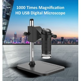 Handheld USB Digital Microscope 1000X 2MP Electronic Endoscope Adjustable 8 LED Magnifier Camera with Stand